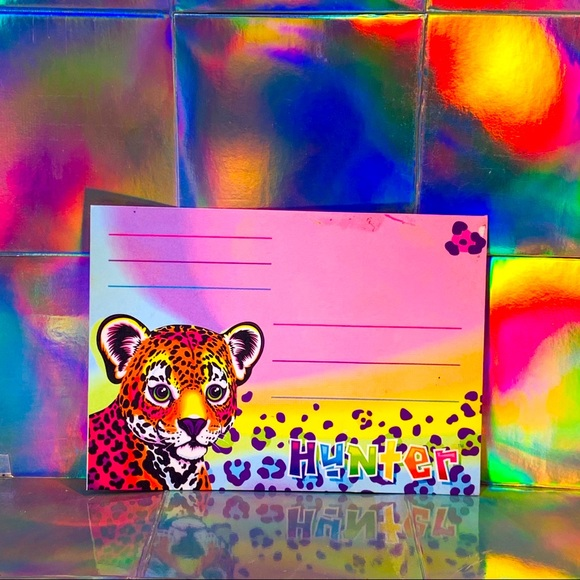 Single Hunter envelope Lisa Frank (flaw see photo)